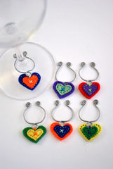 HEART GLASS CHARM