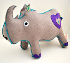 RHINO PLUSH TOY - LARGE