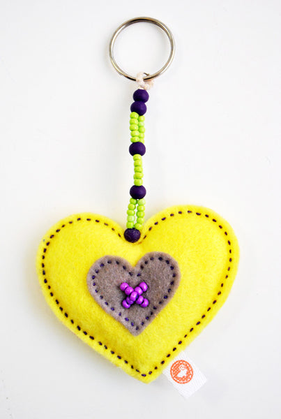 HEART KEY RING - BEAD