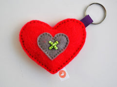 HEART KEY RING - RIBBON