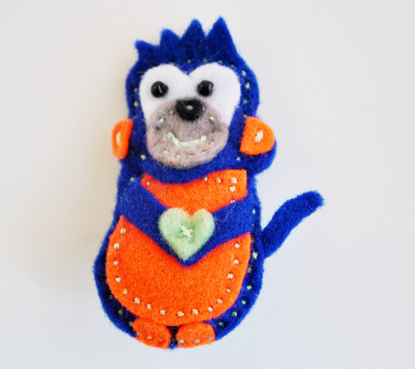 BUSHFELT BROOCH - MONKEY