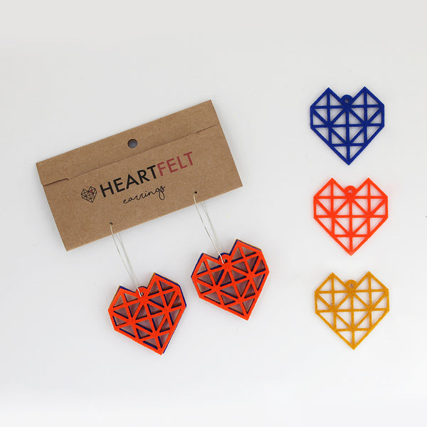 HEART EARRINGS - LARGE