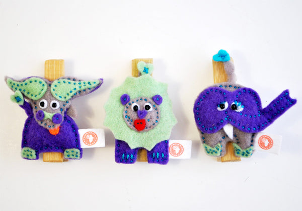 BUSHFELT PEG SET- LEO/ELLIE/BUFFALO