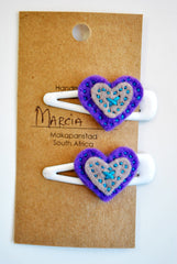 HEART HAIRCLIPS