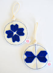 KALEIDOSCOPE BALL SETS - ROYAL BLUE + CREAM
