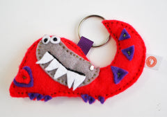 BUSHFELT KEY RING - RIBBON - CROCODILE