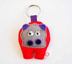 BUSHFELT KEY RING - RIBBON - HIPPO