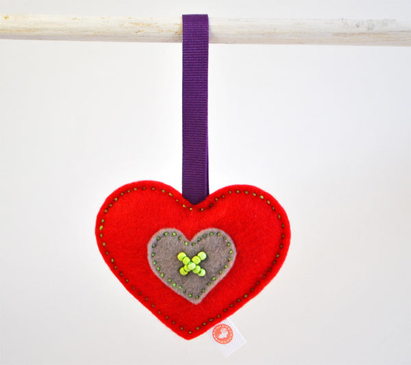 RIBBON HEART - PLAIN