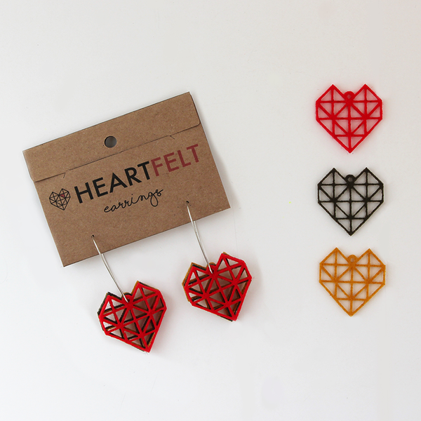 HEART EARRINGS - SMALL