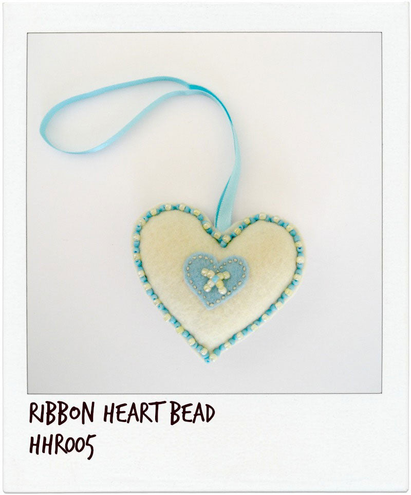 Ribbon Heart with Beads