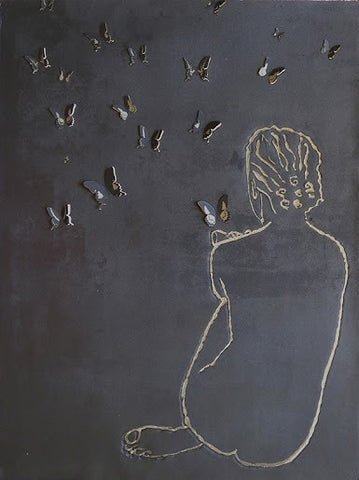Clare Cutts: Fig.61 with Butterflies - Smithson Gallery