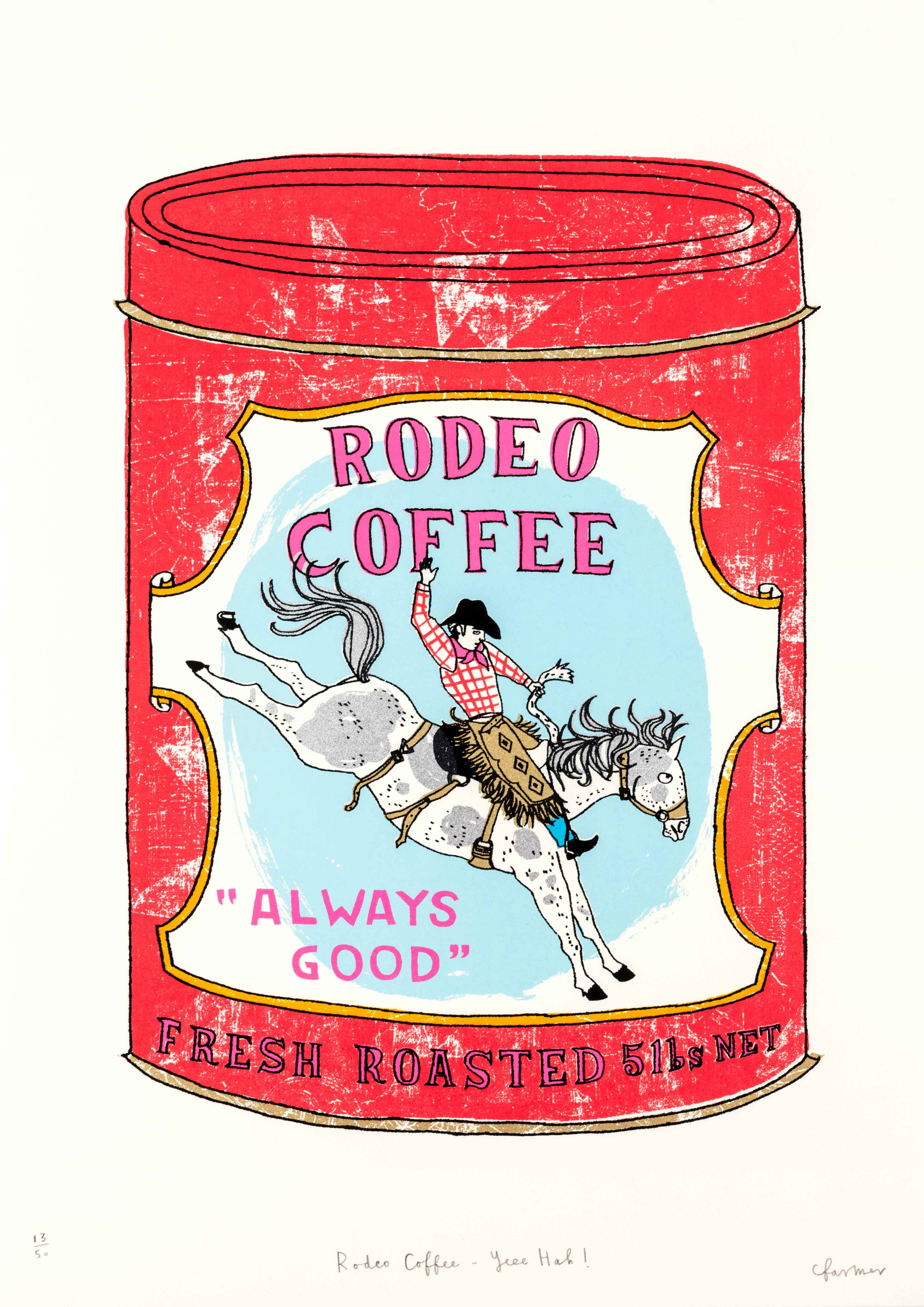 Charlotte Farmer: Rodeo Coffee - Yeee Hah!