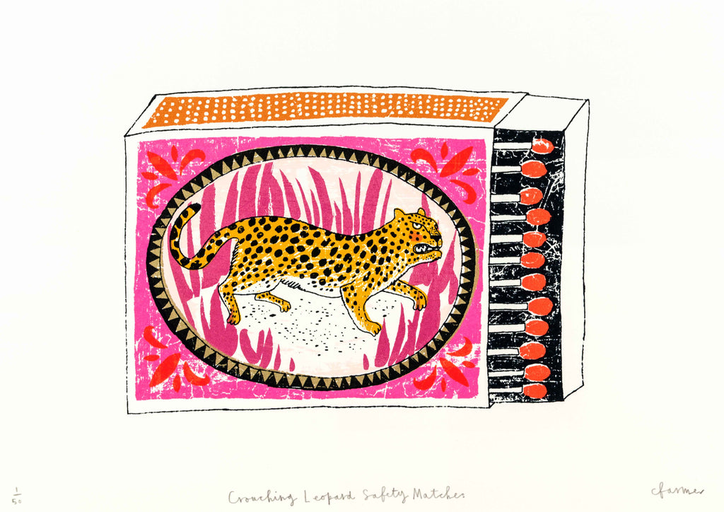 Charlotte Farmer: Crouching Leopard Safety Matches