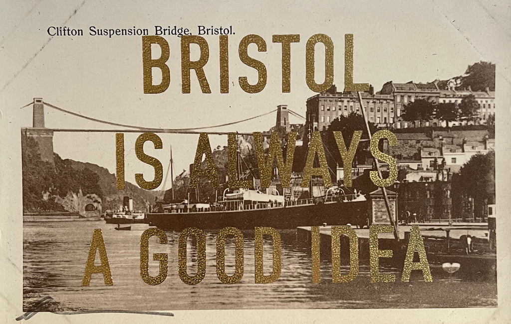 Dave Buonaguidi: Bristol Postcard - Clifton Suspension Bridge & Boats