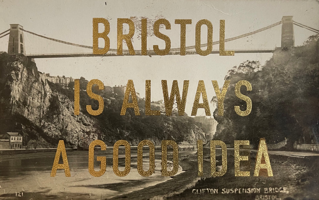 Dave Buonaguidi: Bristol Postcard - Clifton Suspension Bridge from The Water