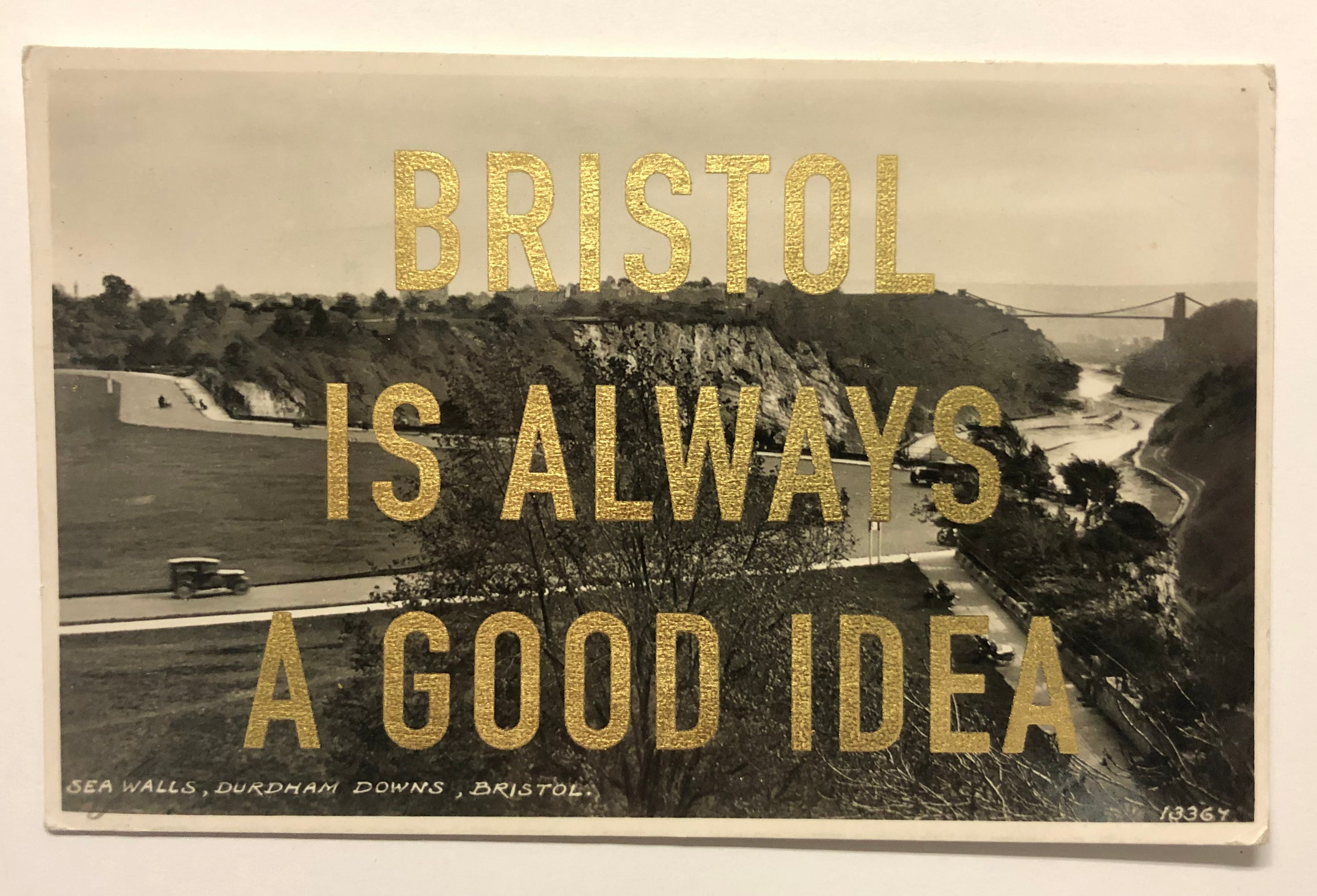 Dave Buonaguidi: Bristol Postcard - Sea Walls, Durdham Downs