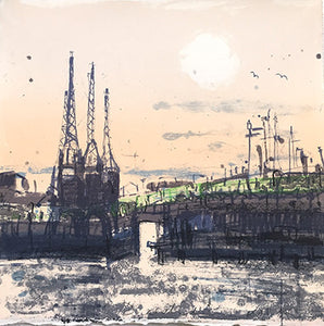 Kelly Stewart: Docks at Dusk (pink) - Smithson Gallery - 1