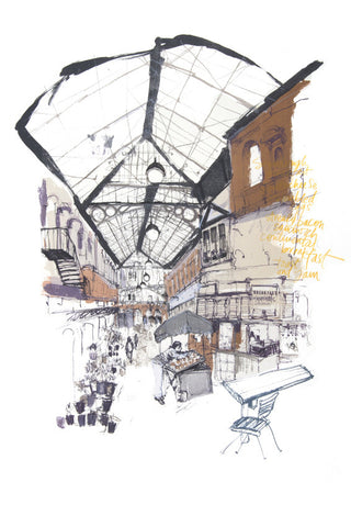 Kelly Stewart: Early Morning at St Nick's Market - Smithson Gallery