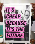 Jono Boyle - It's Cheap Because It's The Future (pink) - Smithson Gallery - 1