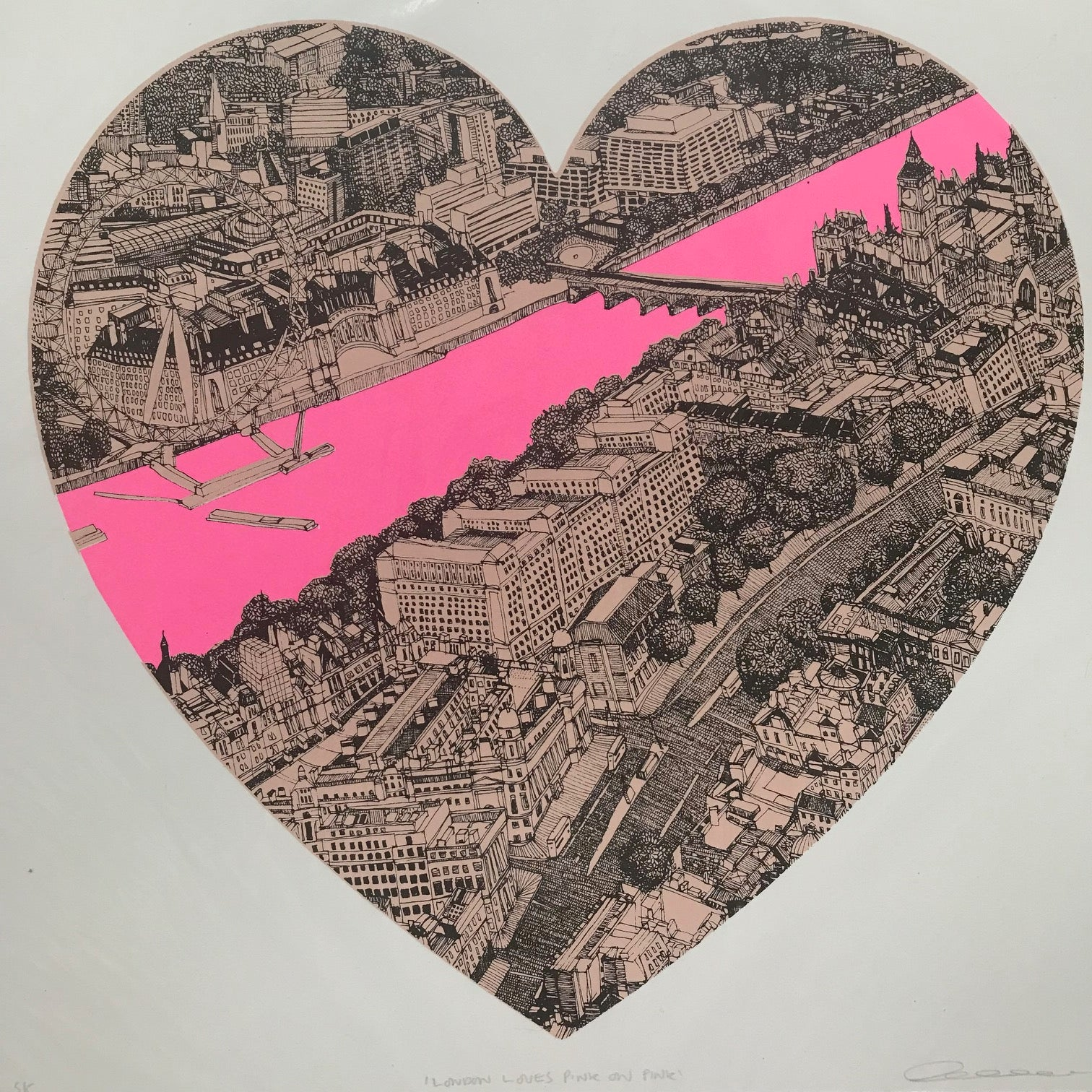 Clare Halifax: London Loves Pink