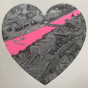 Clare Halifax: London Loves Pink/Silver