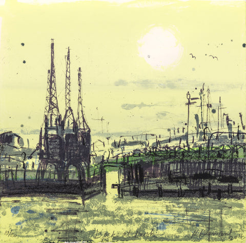 Kelly Stewart: Docks at Dusk (yellow) - Smithson Gallery