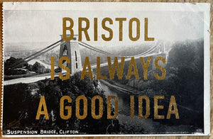 Dave Buonaguidi: Bristol Postcard - Suspension Bridge Clifton in Black & White