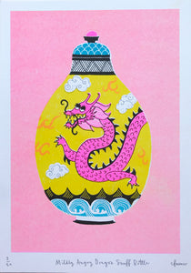 Charlotte Farmer: Mildly Angry Dragon Snuff Bottle