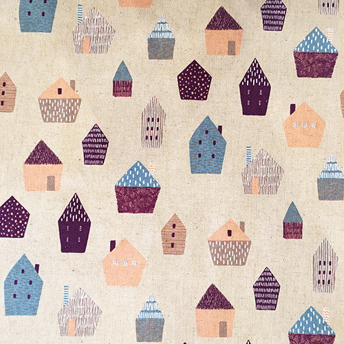 "Tissu - Tissu ""Graphic Houses"" x 50 cm - sevenberry - 1"
