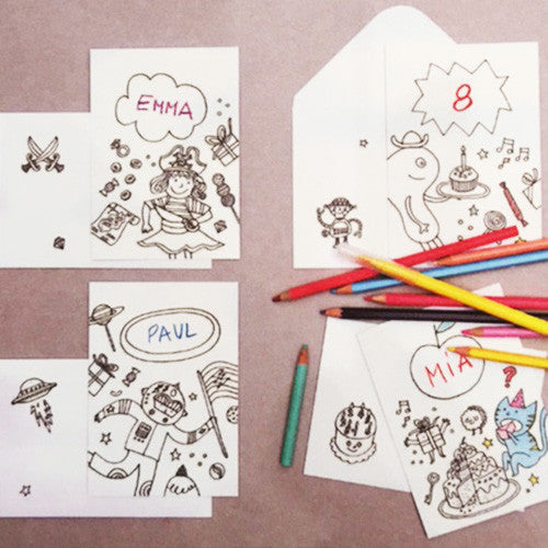Colouring Activity - Cartes d'invitation