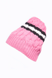 AW15 COLLEGIATE STRIPE CABLE BEANIE