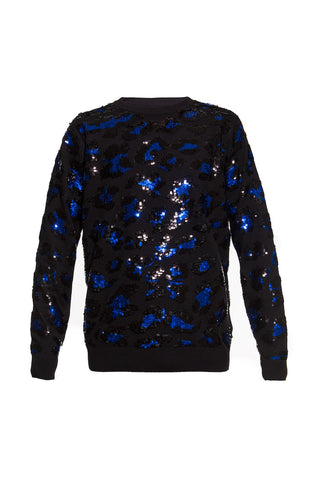 AW16 GREAT JONES ST SEQUIN LEOPARD CREW