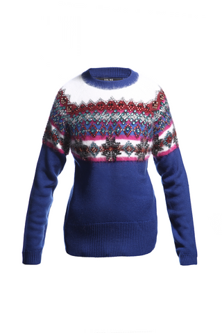AW14 JEWELLED FAIRISLE YOKE SWEATER