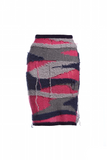 AW15 DESTROYED CAMO PENCIL SKIRT