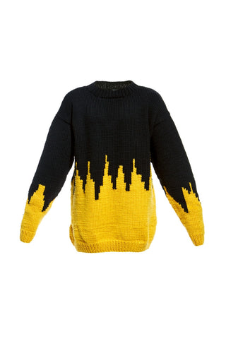 AW16 SKYLINE HAND INTARSIA SWEATER