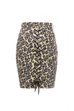 SS16 LEOPARD PRINT LACES SKIRT