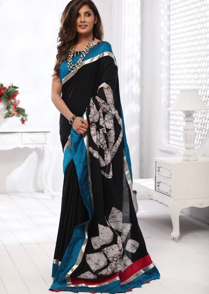 Pure cotton abstract printed saree