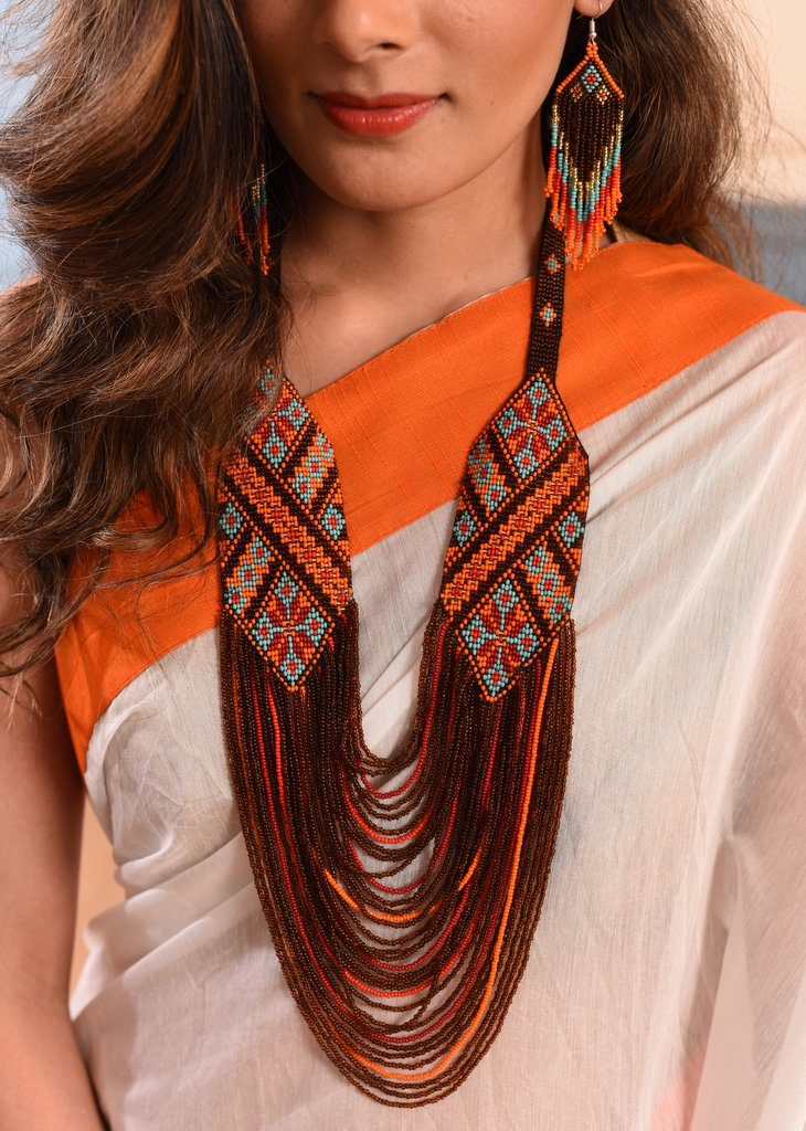 Exclusive seed beed necklace set