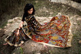 Exclusive all over hand painted pen kalamkari pure chanderi saree