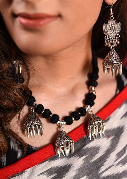 Exclusive jumka pendants necklace set