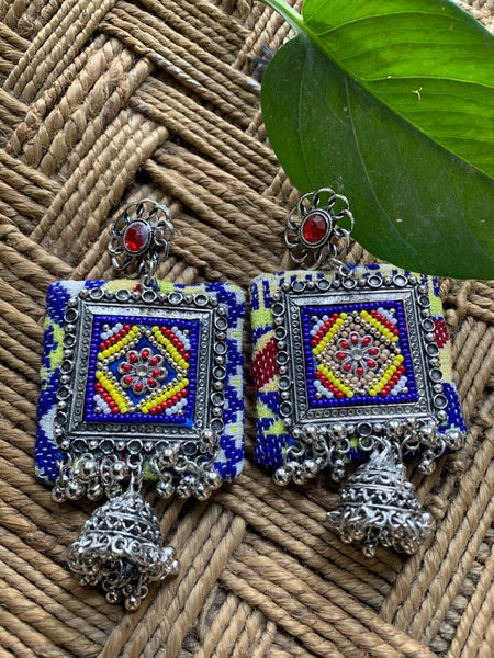 Exclusive multicolored ethnic earring