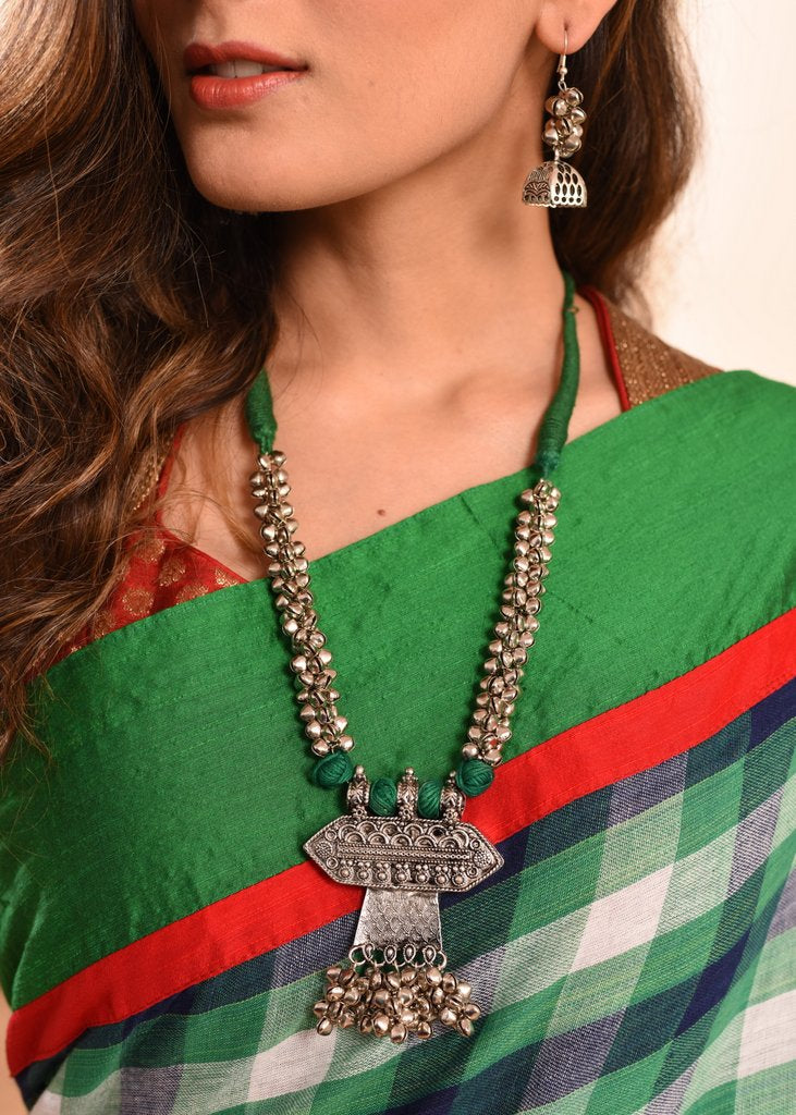 Exclusive ghungroo pendant designer necklace set