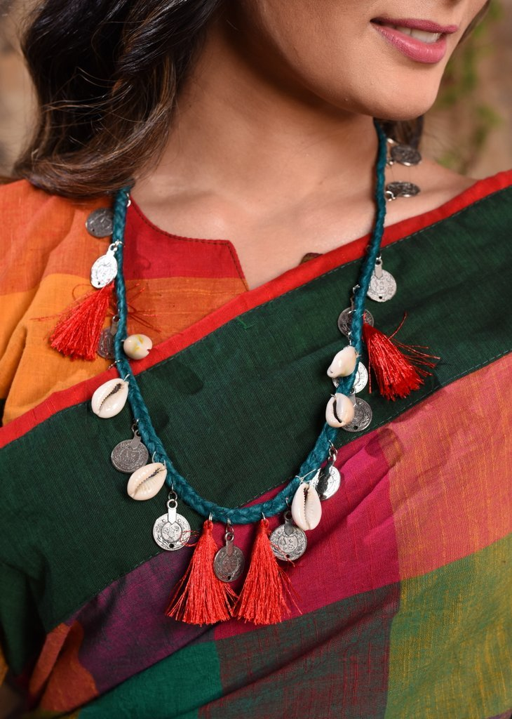 Jewelry - Cowrie And Coins Combination Necklace
