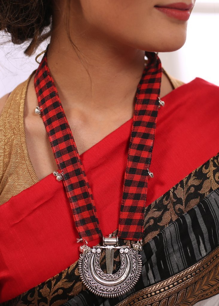 Jewelry - Exclusive Combination Of Gypsy Pendent And Gamcha Handmade Neckpiece