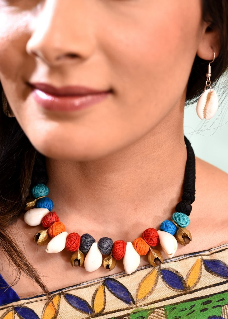 Jewelry - Exclusive Cowrie & Ghungroo Combination Necklace Set