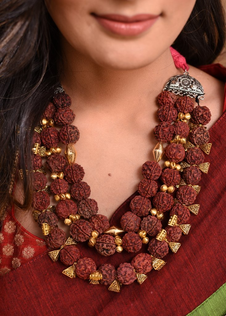 Jewelry - Exclusive Multilayered Rudraksh Necklace