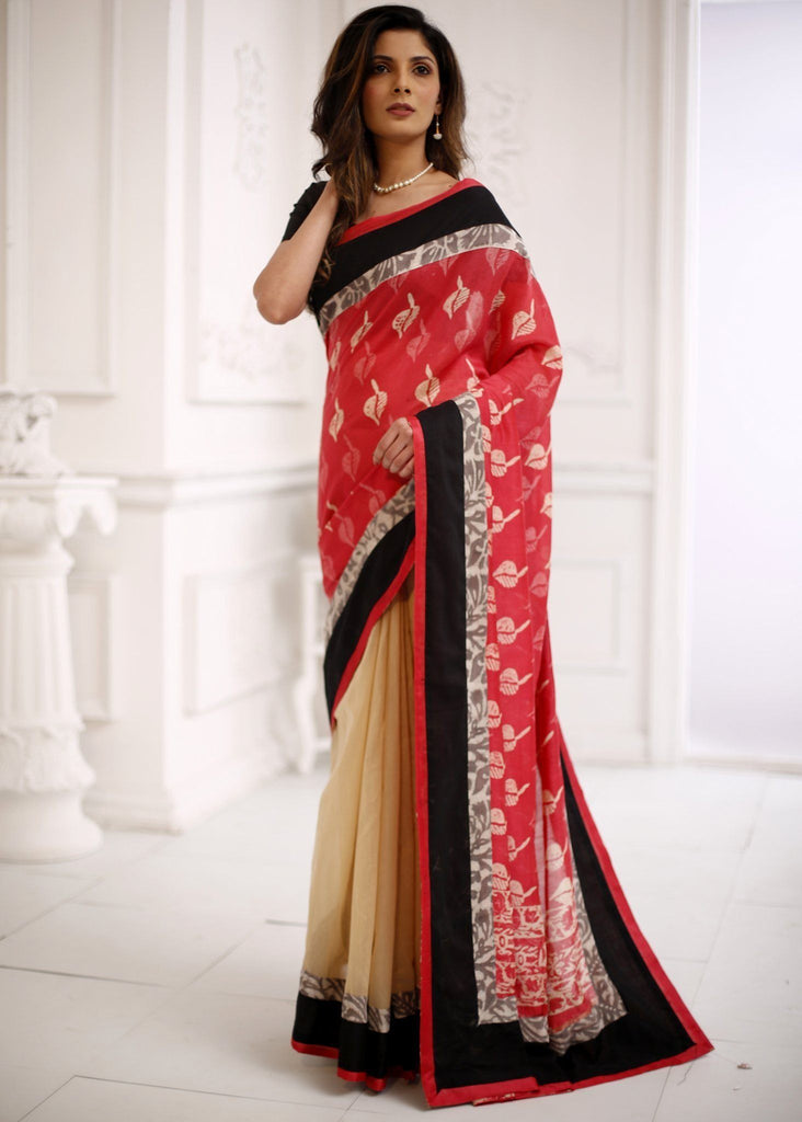 Saree - Printed Pure Chanderi Exclusive Designer Saree