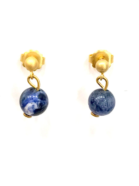 PENDIENTES PIEDRA MINI BLUEBERRY