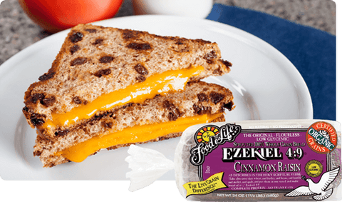 Organic Ezekiel 4.9 Cinnamon Raisin Sprouted Wholegrain Bread 680g
