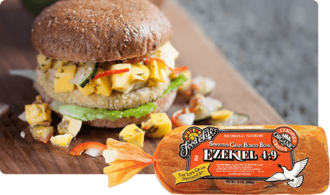 Organic Ezekiel 4.9 Sprouted Whole Grain Burger Buns 454g